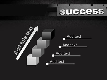 Success Tittle on a Block PowerPoint Template Slide 14