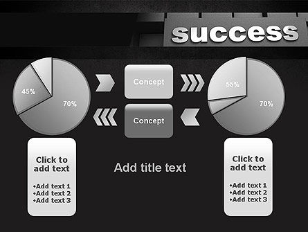 Success Tittle on a Block PowerPoint Template Slide 16