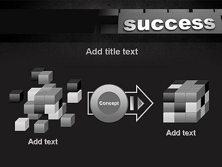 Success Tittle on a Block PowerPoint Template Slide 17