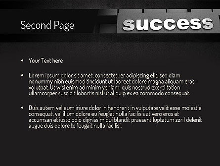 Success Tittle on a Block PowerPoint Template Slide 2