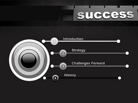 Success Tittle on a Block PowerPoint Template Slide 3