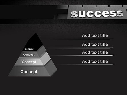 Success Tittle on a Block PowerPoint Template Slide 4