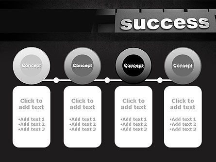 Success Tittle on a Block PowerPoint Template Slide 5