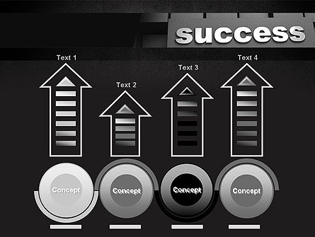 Success Tittle on a Block PowerPoint Template Slide 7