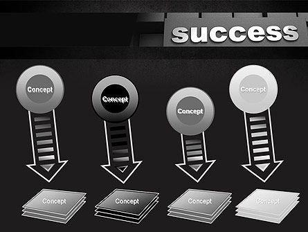 Success Tittle on a Block PowerPoint Template Slide 8