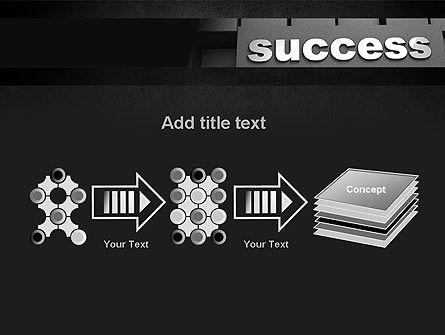 Success Tittle on a Block PowerPoint Template Slide 9