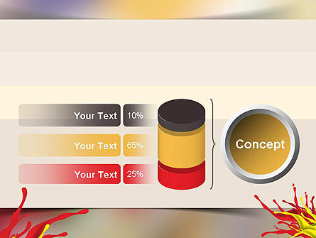 Red and Yellow Splash Paint PowerPoint Template Slide 11