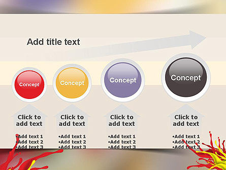 Red and Yellow Splash Paint PowerPoint Template Slide 13