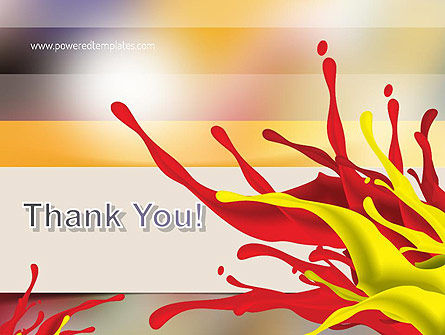Red and Yellow Splash Paint PowerPoint Template Slide 20