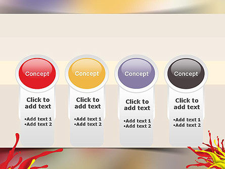 Red and Yellow Splash Paint PowerPoint Template Slide 5