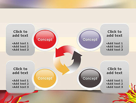 Red and Yellow Splash Paint PowerPoint Template Slide 9