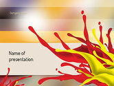 Abstract/Textures: Red and Yellow Splash Paint PowerPoint Template #11196