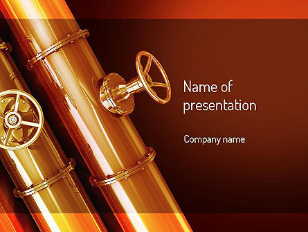 Utilities/Industrial: Industrial Pipes PowerPoint Template #11197