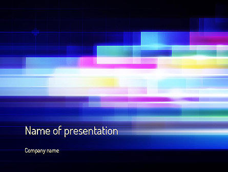 Abstract/Textures: Plantilla de PowerPoint - resumen movimiento multicolor #11199