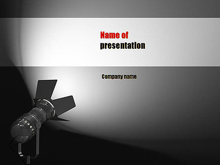 Art & Entertainment: Spotlight PowerPoint Template #11200