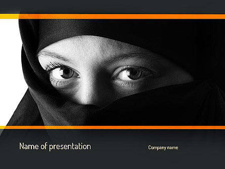 People: Mystical Eyes PowerPoint Template #11203