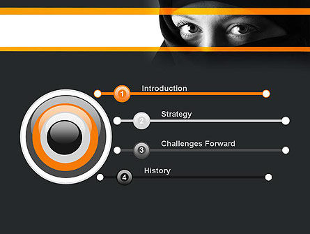 Mystical Eyes PowerPoint Template Slide 3