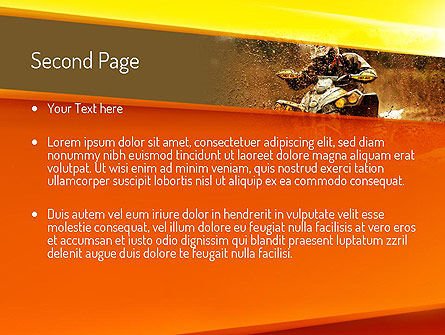 ATV Racing PowerPoint Template, Slide 2, 11210, Sports — PoweredTemplate.com
