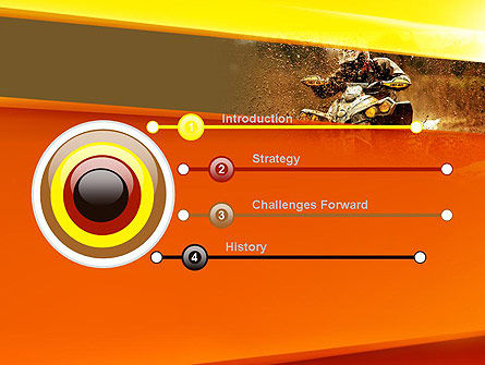ATV Racing PowerPoint Template, Slide 3, 11210, Sports — PoweredTemplate.com