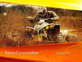 Sports: ATV Racing PowerPoint Template #11210