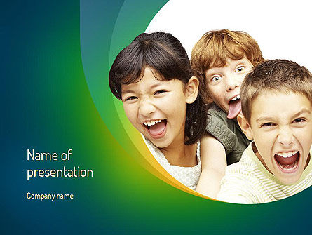 People: Kids Have Fun PowerPoint Template #11211