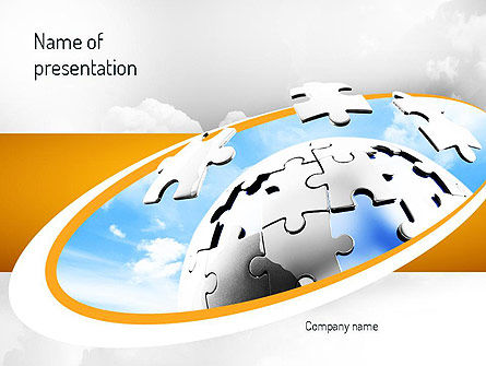 Puzzle Sphere PowerPoint Template