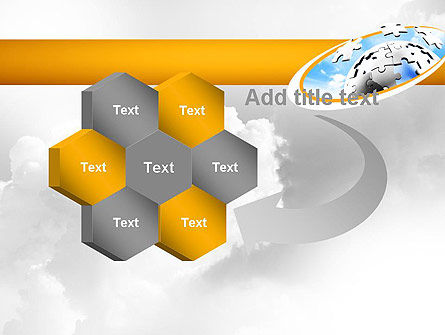 Puzzle Sphere PowerPoint Template Slide 11