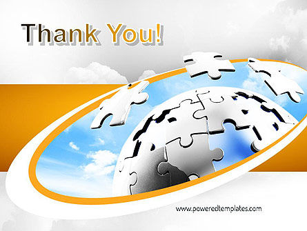 Puzzle Sphere PowerPoint Template Slide 20