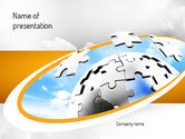 Business Concepts: Puzzle Sphere PowerPoint Template #11212