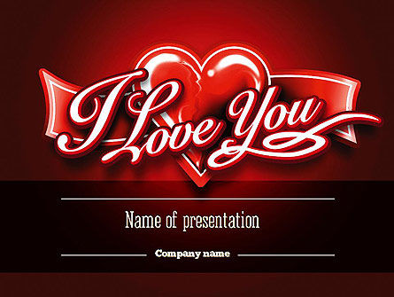 Holiday/Special Occasion: I Love You PowerPoint Template #11213