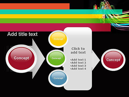 Streaming Lights PowerPoint Template Slide 17