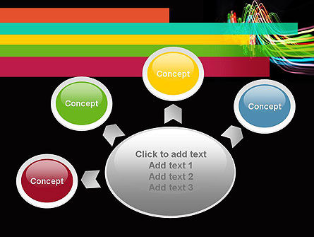 Streaming Lights PowerPoint Template Slide 7