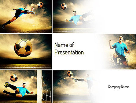 Soccer Collage PowerPoint Template, 11221, Sports — PoweredTemplate.com