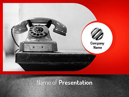 Telecommunication: Ouderwetse Telefoon PowerPoint Template #11222