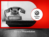 Telecommunication: Old Fashioned Telephone PowerPoint Template #11222