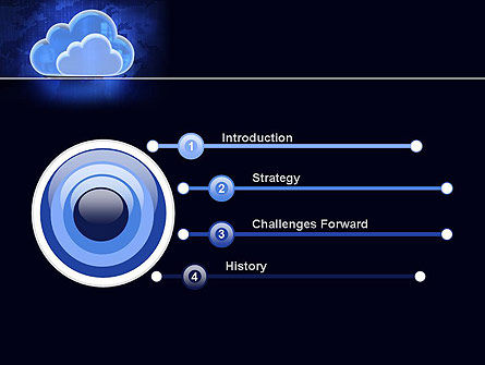 Cloud Technology Services PowerPoint Template, Slide 3, 11223, Technology and Science — PoweredTemplate.com