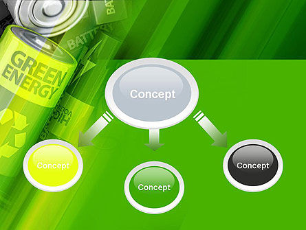 Green Energy Battery PowerPoint Template, Slide 4, 11224, Technology and Science — PoweredTemplate.com