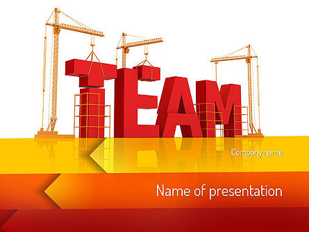 Team Building Under Construction PowerPoint Template, 11226, Careers/Industry — PoweredTemplate.com