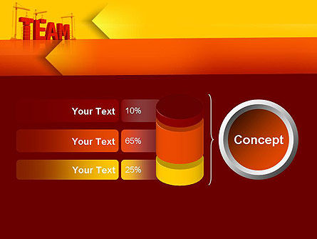 Team Building Under Construction PowerPoint Template Slide 11