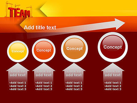 Team Building Under Construction PowerPoint Template Slide 13