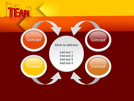 Team Building Under Construction PowerPoint Template Slide 6