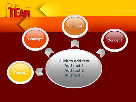Team Building Under Construction PowerPoint Template Slide 7