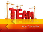 Careers/Industry: Team Building Under Construction PowerPoint Template #11226