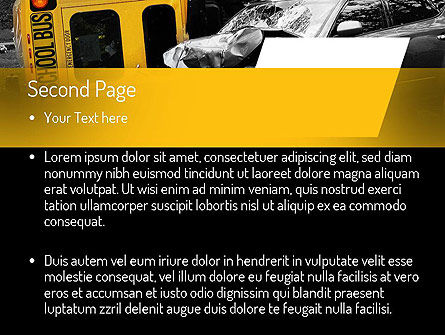 School Bus Accident PowerPoint Template, Slide 2, 11229, Legal — PoweredTemplate.com