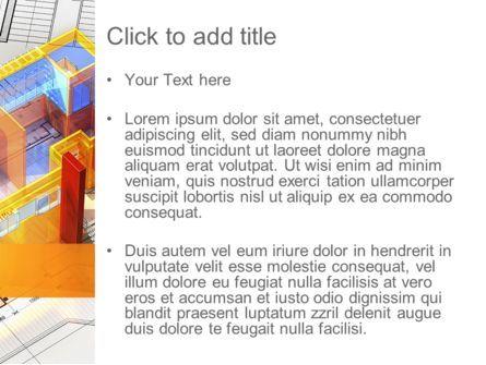 3D House Draft PowerPoint Template, Slide 3, 11232, Construction — PoweredTemplate.com