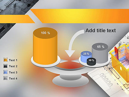3D House Draft PowerPoint Template Slide 10