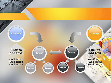 3D House Draft PowerPoint Template Slide 19