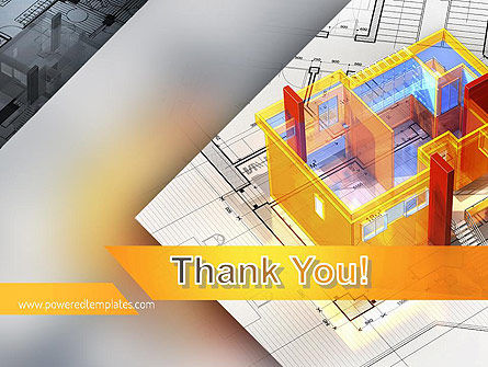 3D House Draft PowerPoint Template Slide 20