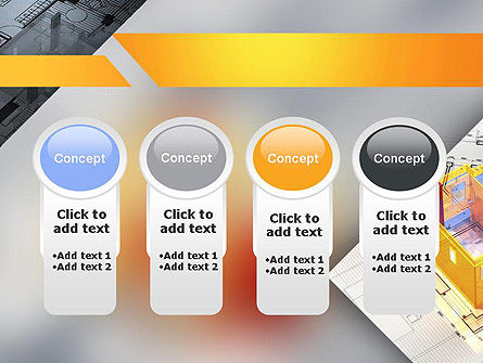 3D House Draft PowerPoint Template Slide 5