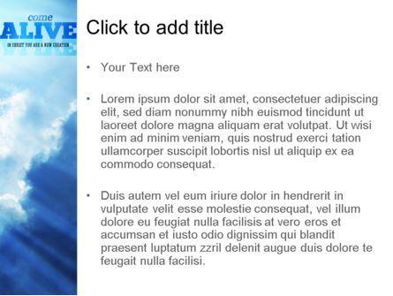 Come Alive PowerPoint Template, Slide 3, 11233, Religious/Spiritual — PoweredTemplate.com